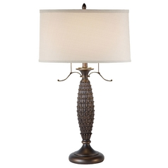 Design Classics Lighting Ponderosa Pine Table Lamp with Drum Shade DCL M6194-1-20 KIT W/SH7194