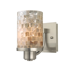 Design Classics Lighting Modern Wall Sconce with Mosaic Cylinder Glass Shade 589-09 GL1026C