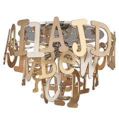 Corbett Lighting Media Polished Stainless with Multi-Leaf Flushmount Light