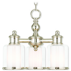 Livex Lighting Middlebush Polished Nickel Mini-Chandelier
