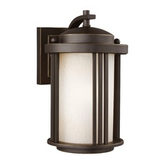 Sea Gull Lighting Crowell Antique Bronze LED Outdoor Wall Light