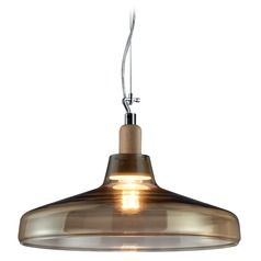 Arnsberg Dover Satin Nickel Pendant Light with Bowl / Dome Shade