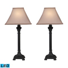 Dimond Lighting Brown LED Table Lamp Sets with Square Shades