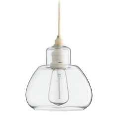 Quorum Lighting Persian White Mini-Pendant Light with Drum Shade
