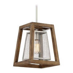 Farmhouse Industrial Pendant Light Brushed Nickel Courtyard by Quoizel Lighting