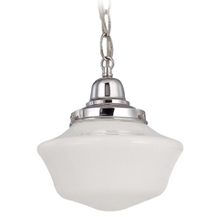 Design Classics Lighting 8-Inch Period Lighting Mini-Pendant Light with Schoolhouse Glass FB4-26 / GA8 / B-26