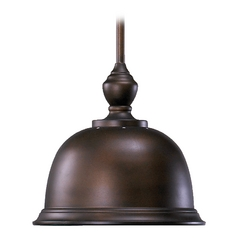 Farmhouse Pendant Light Oiled Bronze by Quorum Lighting