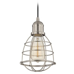 Savoy House Satin Nickel Mini-Pendant Light