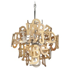 Corbett Lighting Media Polished Stainless with Multi-Leaf Pendant Light