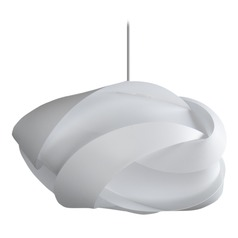 UMAGE White Pendant Light with White Polycarbonate Shade