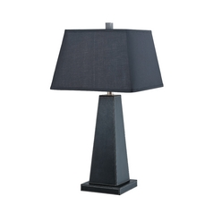 Lite Source Lighting Blakeney Black Table Lamp with Rectangle Shade