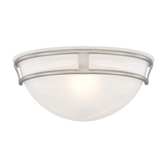 Minka Lighting Sconce Wall Light with Alabaster Glass in Brushed Nickel Finish 841-84