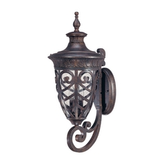 Outdoor Wall Light with Clear Glass in Dark Plum Bronze Finish