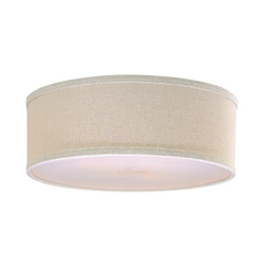 Drum Lamp Shade in Cream Linen