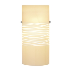 Oggetti Lighting 82-3015 Modern Art Glass Wall Sconce with Cream Shade