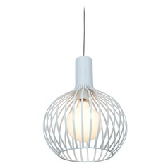 Access Lighting Chuki White Pendant Light with Globe Shade