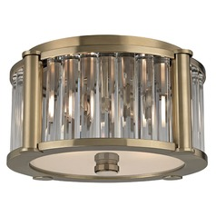 Hartland 2 Light Flushmount Light - Aged Brass