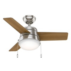 Hunter 36-Inch Brushed Nickel LED Ceiling Fan with Light