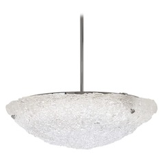 George Kovacs Forest Ice Chrome LED Pendant Light with Bowl / Dome Shade