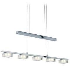 Arnsberg Brooklyn Chrome LED Island Light with Square Shade