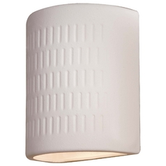 Outdoor Wall Light in White Finish