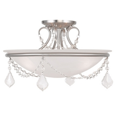 Livex Lighting Chesterfield/pennington Brushed Nickel Semi-Flushmount Light