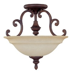 Capital Lighting Chandler Burnished Bronze Semi-Flushmount Light