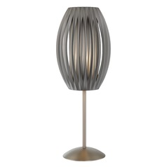 Lite Source Egg Stainless Steel Table Lamp with Cylindrical Shade