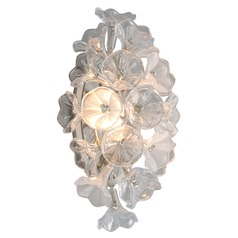 Corbett Lighting Jasmine Silver Leaf LED Sconce 2700K 840LM