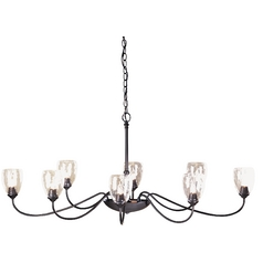 Eight-Light Oval Chandelier