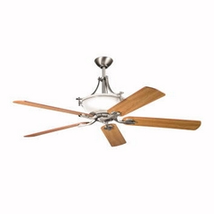 Kichler 60-Inch Ceiling Fan with Five Blades and Light Kit