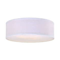 White Linen Drum Lamp Shade