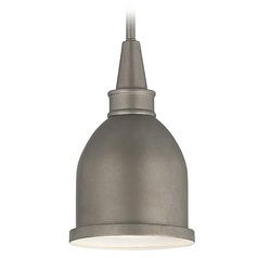 Savoy House Aged Steel Mini-Pendant Light with Bowl / Dome Shade