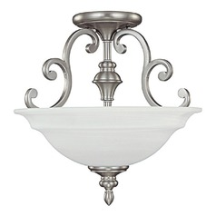 Capital Lighting Chandler Matte Nickel Semi-Flushmount Light
