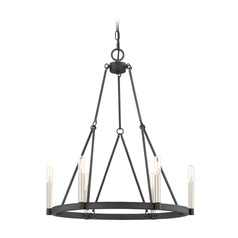 Transitional Chandelier Black Doran by Quoizel Lighting