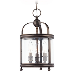 Mini-Pendant Light with Clear Glass in Polished Nickel Finish