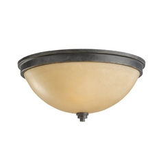 Bronze Ceiling Light in Bronze Finish - 13-1/4-Inches Wide