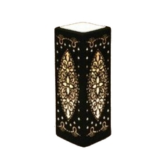 Rectangle Accent Lamp with Black Porcelain Shade