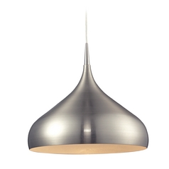 Modern LED Pendant Light in Satin Nickel Finish