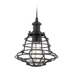 Jeremiah Lighting Matte Black Mini-Pendant Light