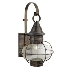 Prismatic Glass Outdoor Wall Light Bronze Norwell Lighting