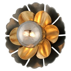 Corbett Lighting Magic Garden Black Graphite Bronze Leaf Sconce