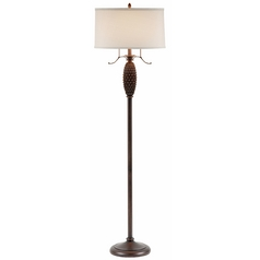 Ponderosa Pine Floor Lamp with Drum Shade