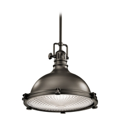 Kichler Lighting Hatteras Bay Olde Bronze Pendant Light with Bowl / Dome Shade
