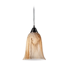 Modern Mini-Pendant Light with Alabaster Glass