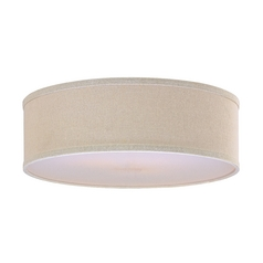 Cream Linen Drum Lamp Shade