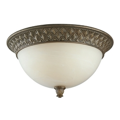 Progress Flushmount Ceiling Light with Alabaster Glass