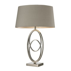 Dimond Lighting Polished Nickel Table Lamp with Oval Shade