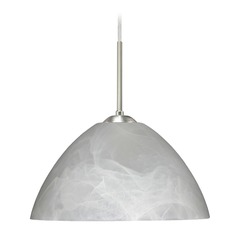 Besa Lighting Tessa Satin Nickel LED Pendant Light