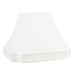 White Cut Corner Lamp Shade with Spider Assembly